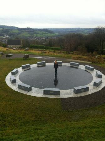 Wirksworth, UK: The star disc with the constellations ingraved in the floor, photos don't do it justice though!