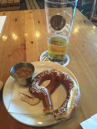 Whistler Brewing Company: Powder Mountain paired with Pretzel
