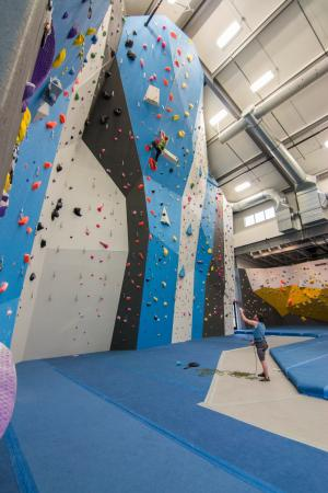 Spire Climbing Center: Southwest lead walls and bouldering