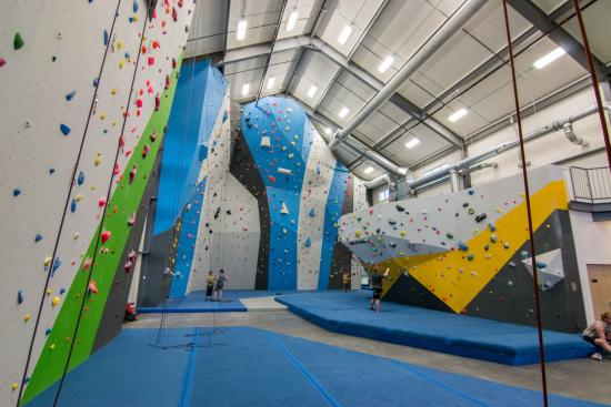 Spire Climbing Center : South Gym, featuring walls up to 50ft!
