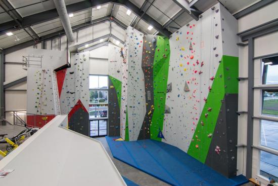 Spire Climbing Center: South Toprope area