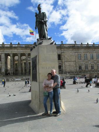 La Candelaria: Vanessa and I in the Plaza