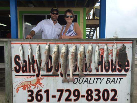 Hooks and Horns Fishing Guide Service: Full catch of the day. The flounder we took to a local restaurant for supper.