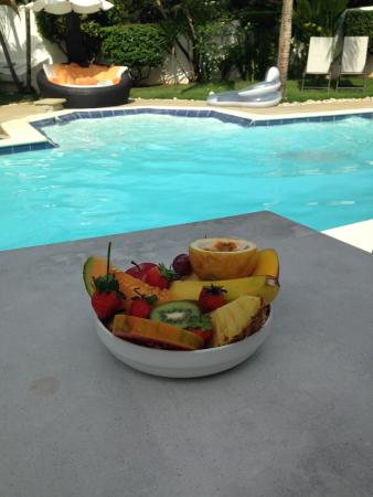 Fresh fruit at breakfast in Casa Veintiuno, Sosúa, Dominican Republic