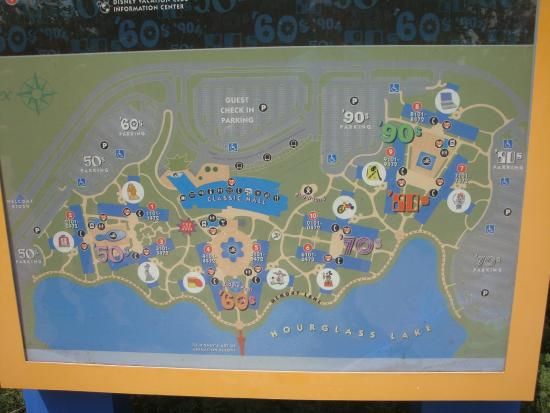 Hotel Map - Picture of Disney\'s Pop Century Resort, Orlando ...