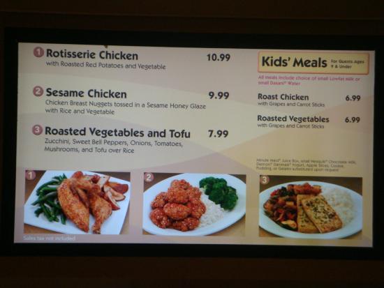 Food menu picture of disney 39 s pop century resort for Artistic cuisine menu