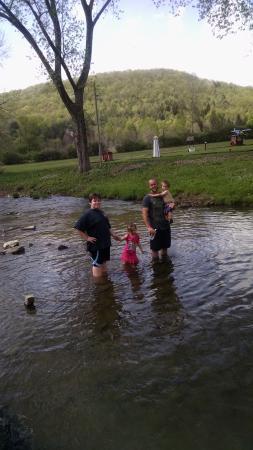Ferenbaugh Campsites: spring at Ferenbaugh -Corning, NY