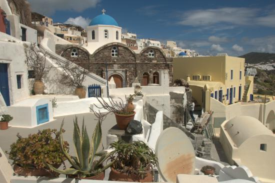 Old Oia Houses: View from the balcony