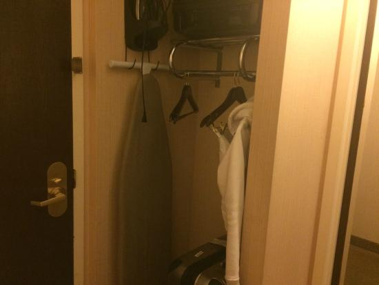 Holiday Inn Washington DC / Greenbelt: The open closet. Ironing board and machine.