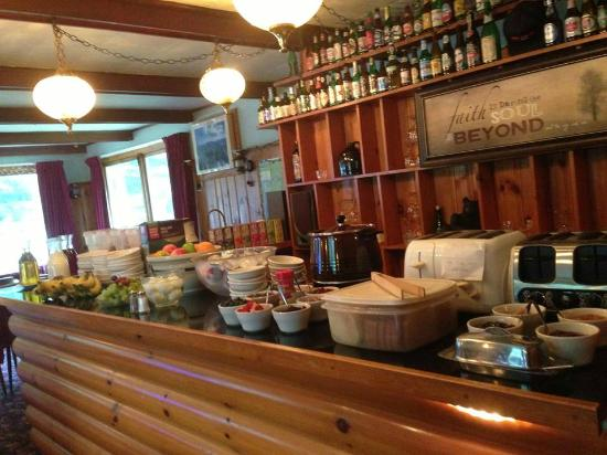 ADK Trail Inn: Start your day with our generous breakfast bar