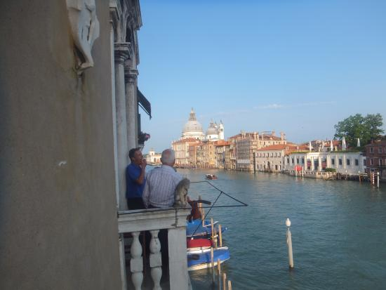 Palazzetto Pisani Grand Canal: from balcony of palace hotel pisani venice