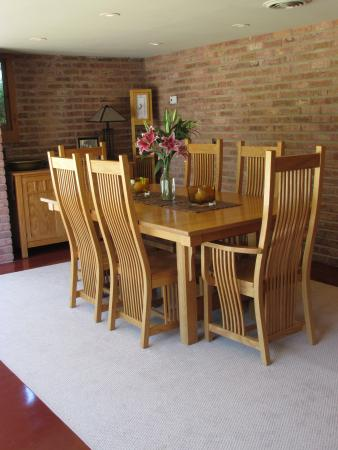 Muirhead Farmhouse: Prairie Style furniture is used throughout the house.