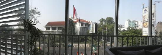 Anggrek Shopping Hotel : View from dining area