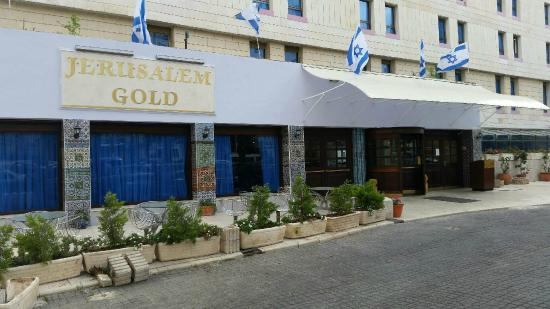 Jerusalem Gold Hotel: Renovated hotel entrance with Armeninan Tiles