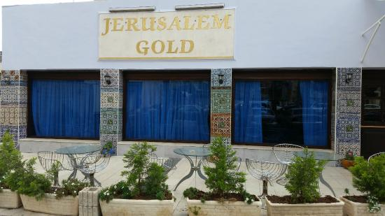 Jerusalem Gold Hotel: Renovated hotel entrance with Armenian Tiles