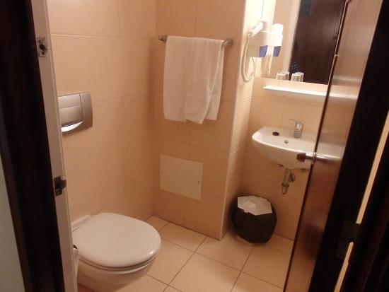 Bathroom, clean with shower over bath. - Picture of Hotel do Carmo ...