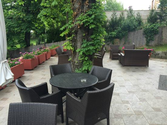 Hotel Bobbio: the terrace