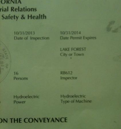 Prominence Hotel & Suites: The Expired Elevator Permit at the Prominence Hotel