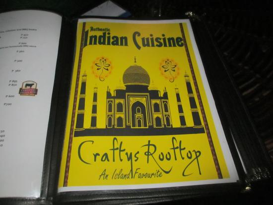 Crafts Roof Top Restaurant and Bar: Indian Cusine in Boracay