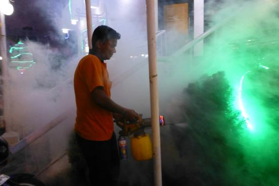 Star Residency: 'Smoking' the hotel perimeter in the evening to keep out the mosquitoes