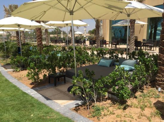 Ajman, Emiratos Árabes Unidos: Кровати лежаки возле бассейна
