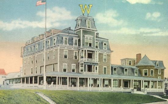 Summercamp Hotel Vintage Postcard Of Wesley On Martha S Vineyard