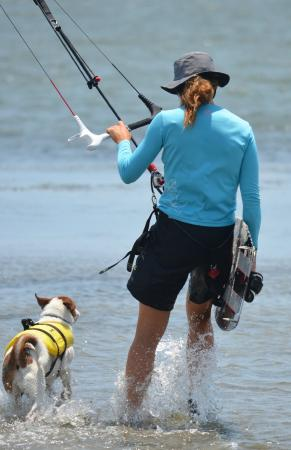Blown Kiteboarding: Me and the pup