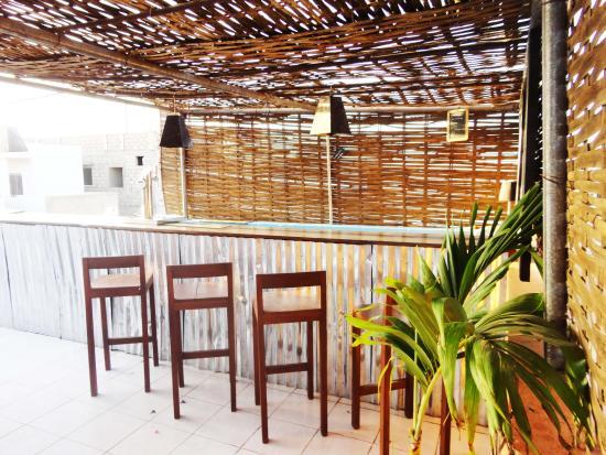 Hotel du Phare Les Mamelles: Bar roof top