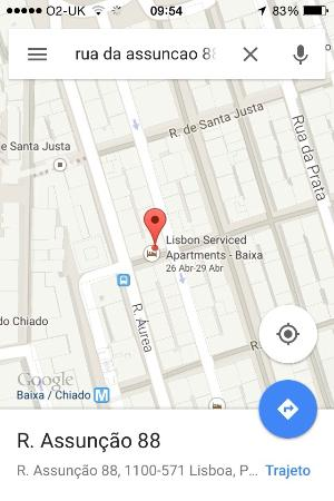 Lisbon Serviced Apartments - Baixa Chiado : Localização
