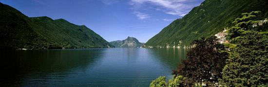 San Mamete Valsolda, Włochy: View on the lake