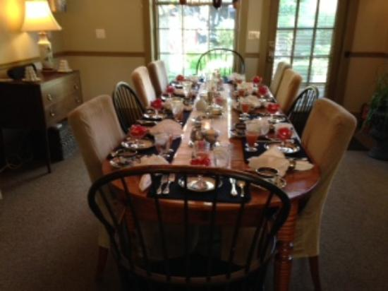 1795 Acorn Inn: Wonderful Breakfast Table