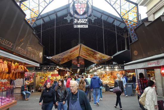 Mercado san jos o de la boquer a picture of las ramblas - Barcelona san jose ...