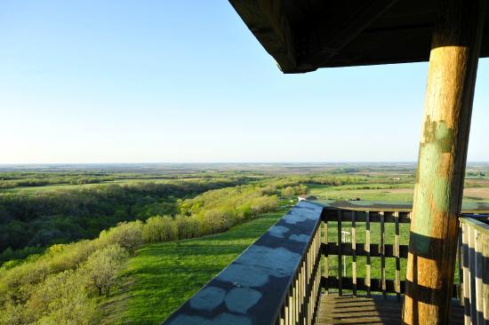 View toward Minnesota from Nicollet Tower, Sisseton, SD