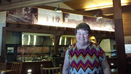 Annie Creek Restaurant: seated at restaurant
