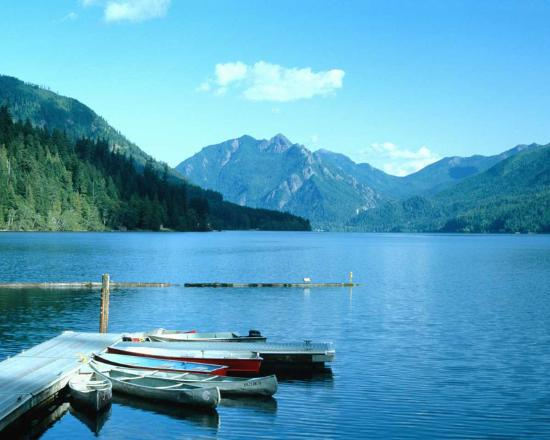 Lac crescent picture of crescent lake olympic national for Log cabin resort lago crescent wa