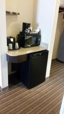 Holiday Inn Express Hotel & Suites Dallas West: Microwave & Refrigerator
