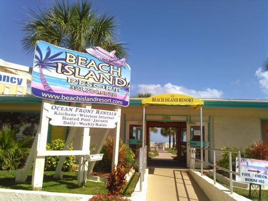 Beach Island Resort Sign