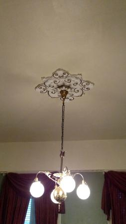 Sunburst Inn Guest House: Ceiling medallion is gorgeous