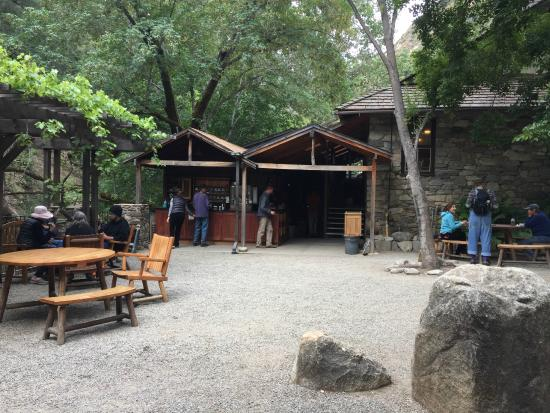 Tassajara Zen Mountain Center: Sitting area & coffee/tea station