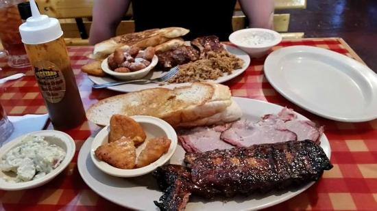 Just Look At Those Plates Picture Of Backyard Boys Bar B Que