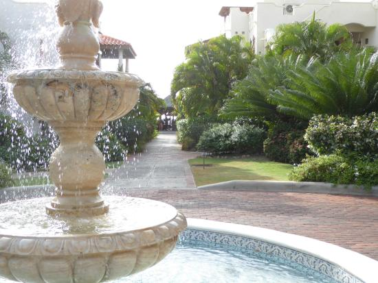 Cap Estate, St. Lucia: fountain at the main entrance