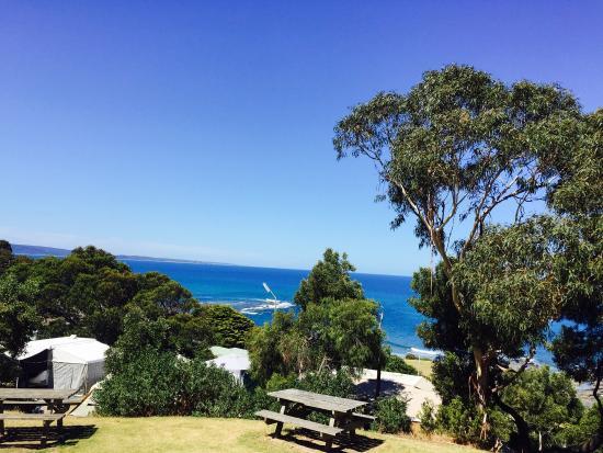 Lorne Foreshore Caravan Park: The view