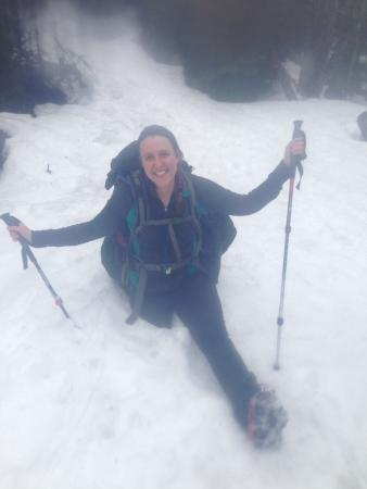 Mount Marcy : Lots of snow. Stay on the snow spine or you'll sink