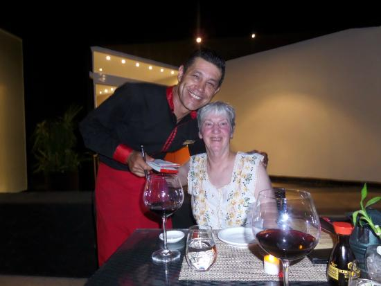 Luis at Himitsu Rest.(old friend from dreams cancun)