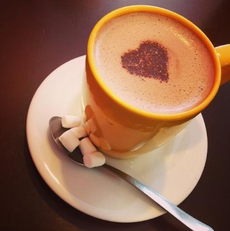 El Postrecito: Hot Chocolate! Que lindo y rico tambien!