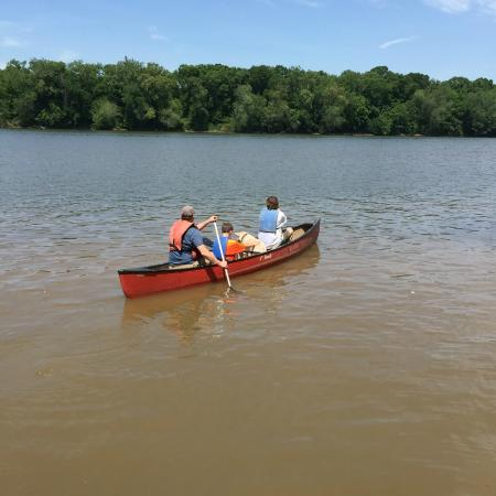 Leesburg, VA: the canoe we rented on the Maryland side of the ferry ride