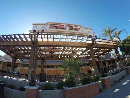 Tropicana Laughlin Newly Installed Trellis Bar On Outdoor Victory Plaza