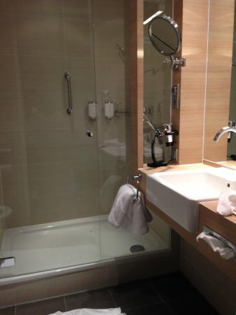 Bathroom Water Leaks Out Of The Shower Door Picture Of H Hotel