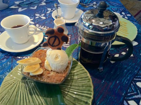 Paia, HI: French press of fresh ground Kona Coffee