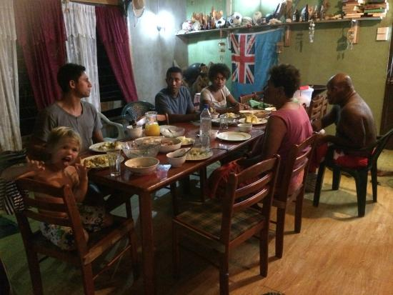 Danny's Village Homestay: Dinner at Sake & Tupou's